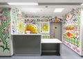 彩绘墙,墙面彩绘,护士站