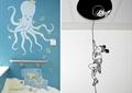 彩绘墙,章鱼彩绘,墙面彩绘