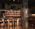 酒柜,吧台椅,装饰柱,壁灯,吊灯,桌椅,酒吧