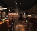 吧台,桌椅,吊灯,地面铺装,背景墙,酒吧
