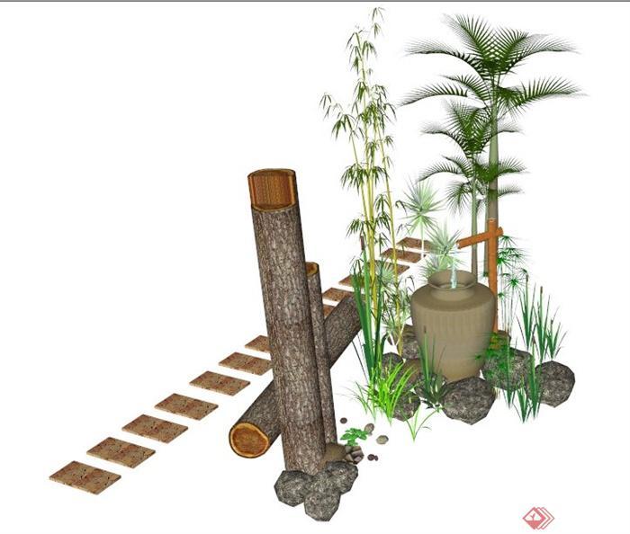 园林竹子钢笔画法