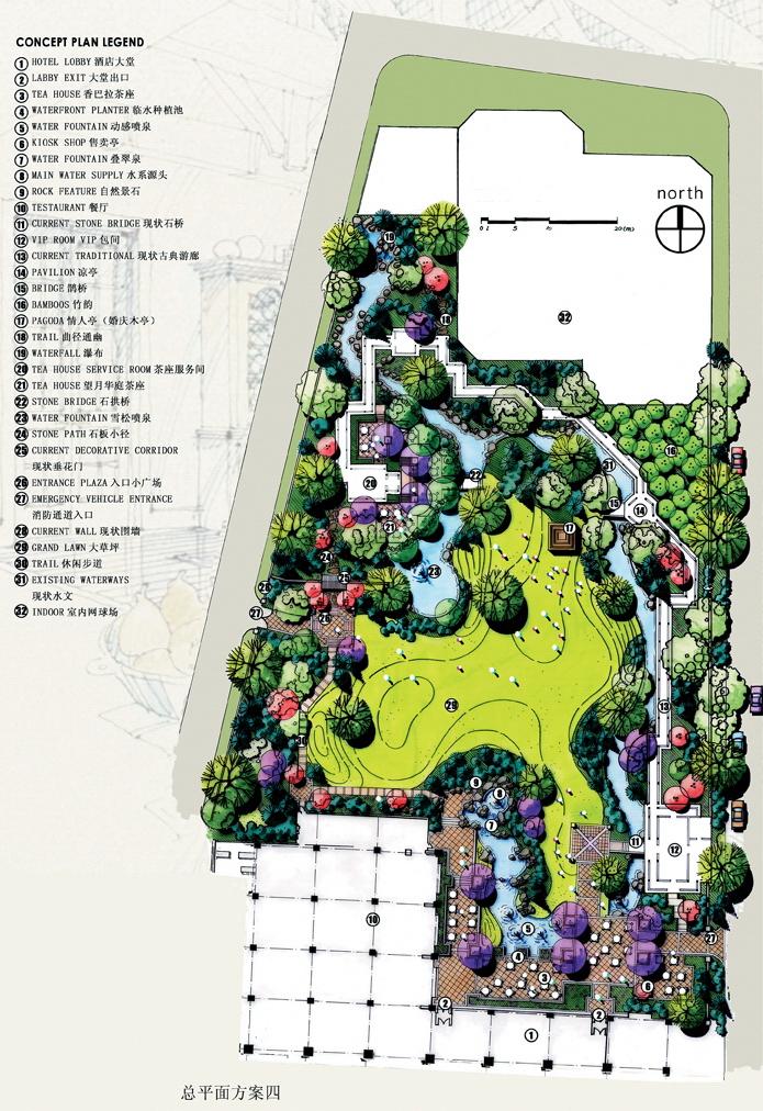 河流城市网站规划设计手设计-高尔夫球场公园国内优秀的vi绘图景观图片