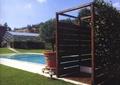 花架,盆栽,草坪,廊架,泳池