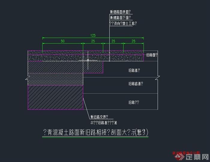 新旧路搭接设计CAD图(1)