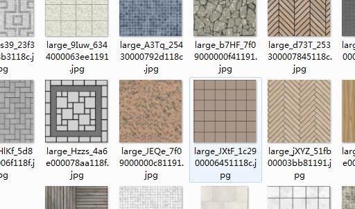 地砖、石墙、拼花铺装SU材质贴图