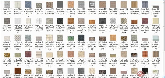 地砖、石墙、拼花铺装SU材质贴图(2)