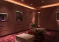 沙发,茶几,花瓶插花,形象墙,地面铺装,天花吊顶,休息室