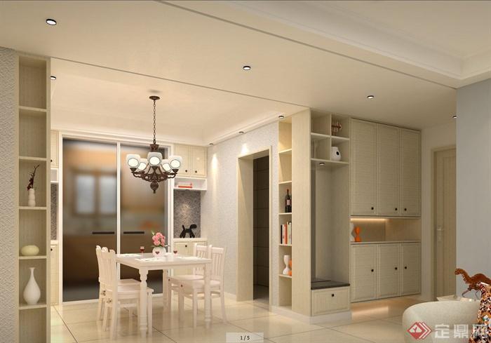 某简欧风格室内客厅家装设计su模型(1)