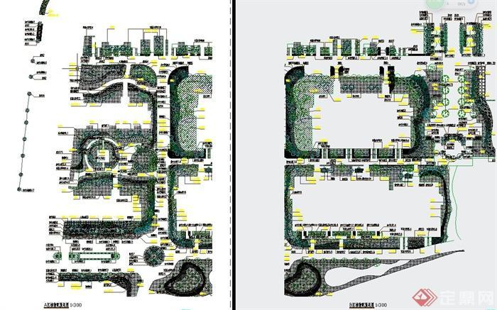 现代某住宅小区景观规划设计cad施工图[原创]