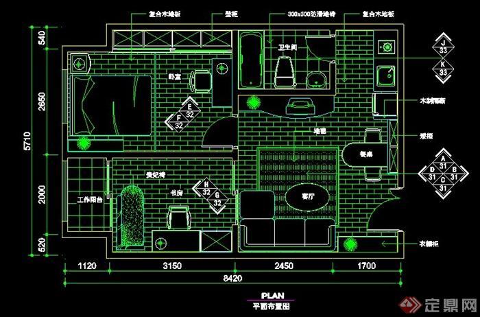 8个住宅空间设计平面布置图图片