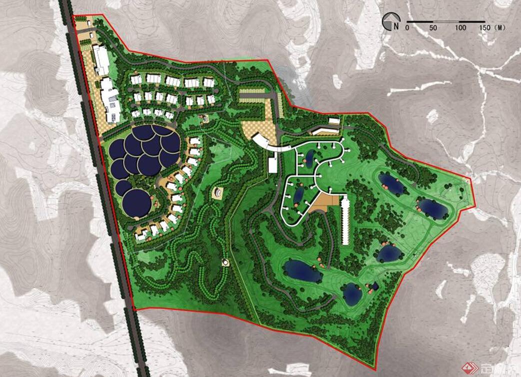 某市东北虎野生动物园修建性详细规划与建筑方案设计