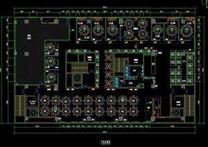 現代某餐飲空間設計CAD平面布置圖