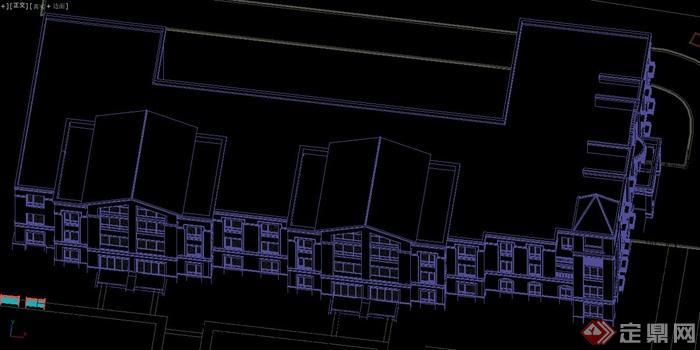 某欧式三层幼儿园建筑设计3dmax模型[原创]