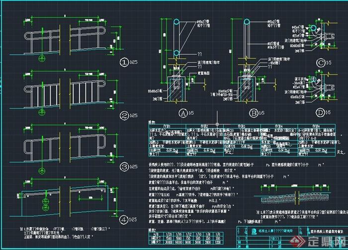 各种道路设计CAD施工图,图纸内容有残疾人坡道 ...