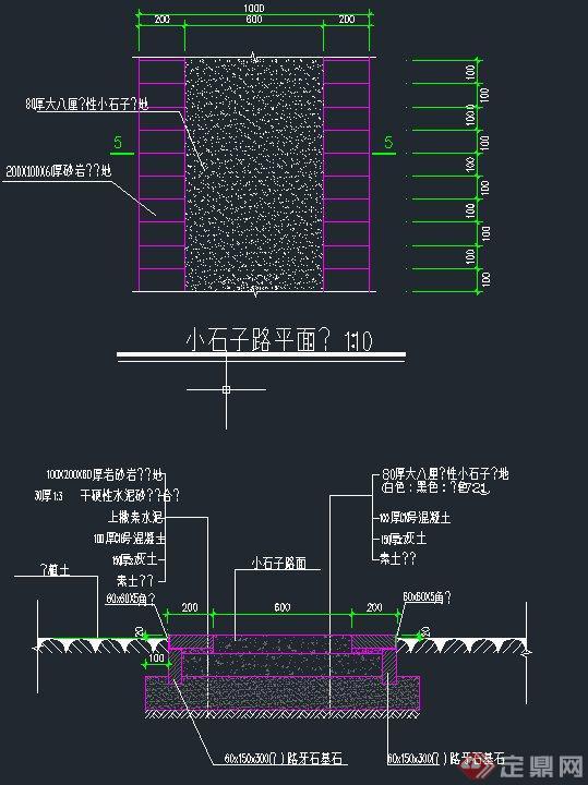 各种道路设计CAD施工图(9)