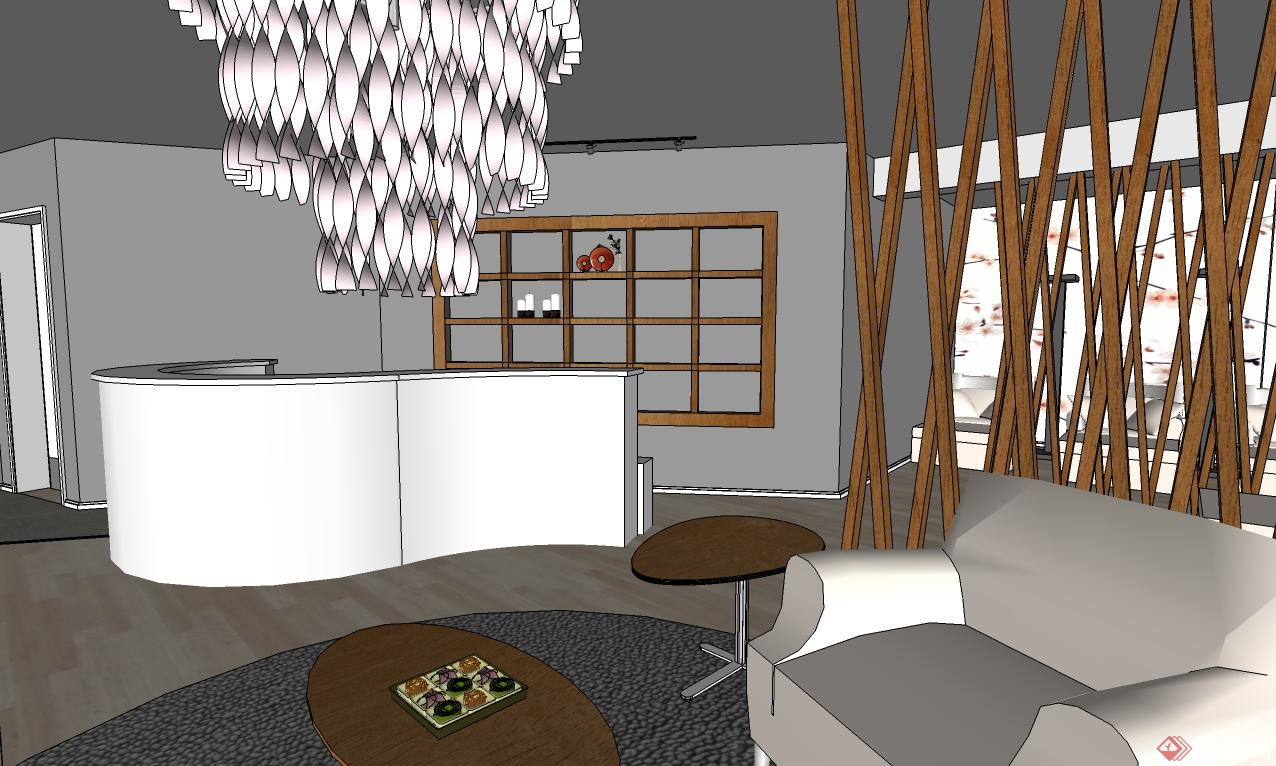 某日式风格美甲店室内装饰设计-neo工作室