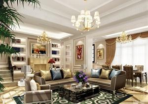 新古典风格客厅室内设计效果图