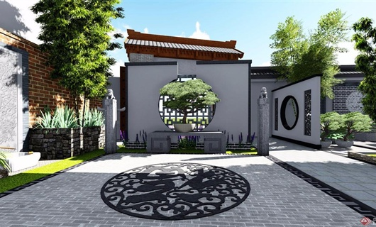 中式庭院景觀-圓海文化.禪意網