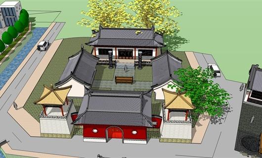 旅游区规划小型  古建筑