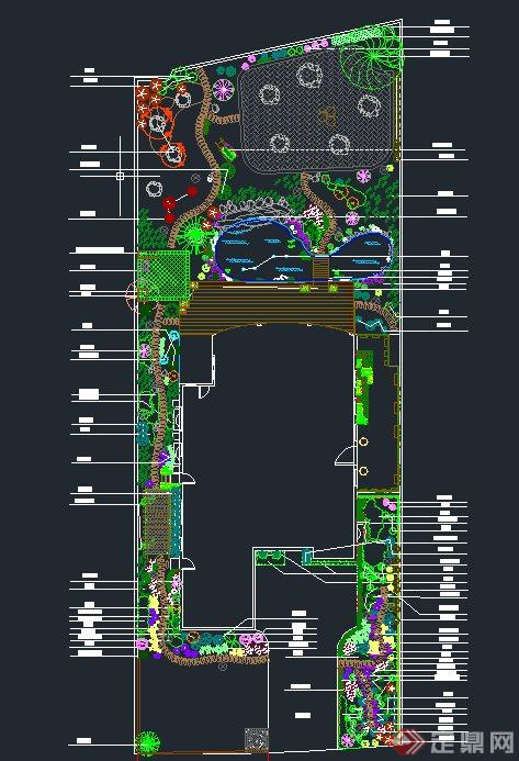 别墅庭院景观设计CAD图[原创]什么有别墅舒城图片