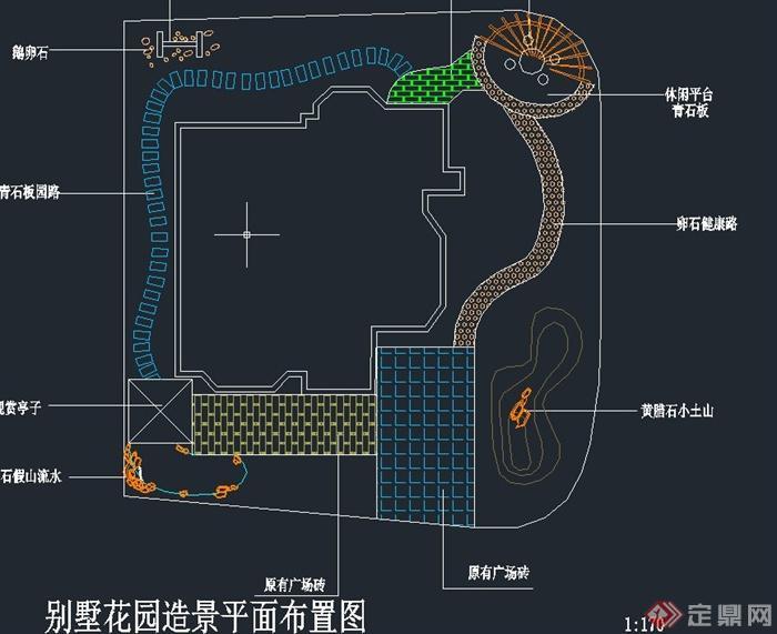 景区平面原创v景区CAD花园布置图[造景]别墅别墅道教图片