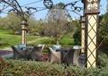亭子,桌椅,灌木植物,汀步,草坪景观,景观树,公园景观