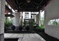 廊架,石材铺装,长廊