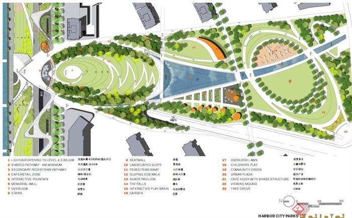 现代某滨水景观规划设计方案pdf文本[原创]