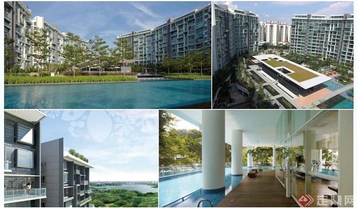现代某高层住宅景观概念设计方案jpg方案图[原创]