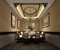 餐桌椅,吊灯,天花吊顶,地面铺装,装饰画,包间,餐厅空间
