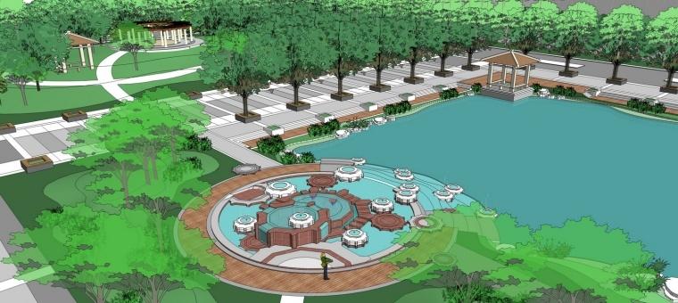 滨水公园景观素材