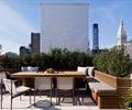 桌椅,种植池,地面铺装,花钵,屋顶花园,庭院景观