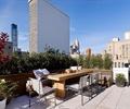桌椅,沙发,种植池,花钵,地面铺装,屋顶花园,庭院景观