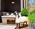 动物雕塑,种植池,花钵,沙发,露台花园,庭院景观