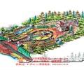 廊架,大门,喷泉水池,景观树,公园景观