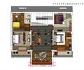 客房,休息区,楼梯间,客栈模型,客栈设计