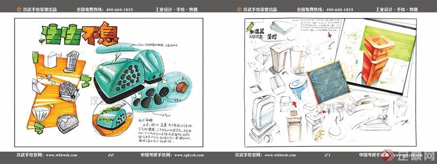 工业动画设计手绘快题模板合集-武汉金汉武环境设计