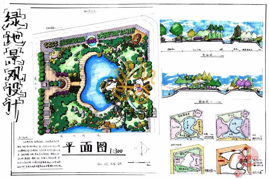 汉武景观手绘快题模板