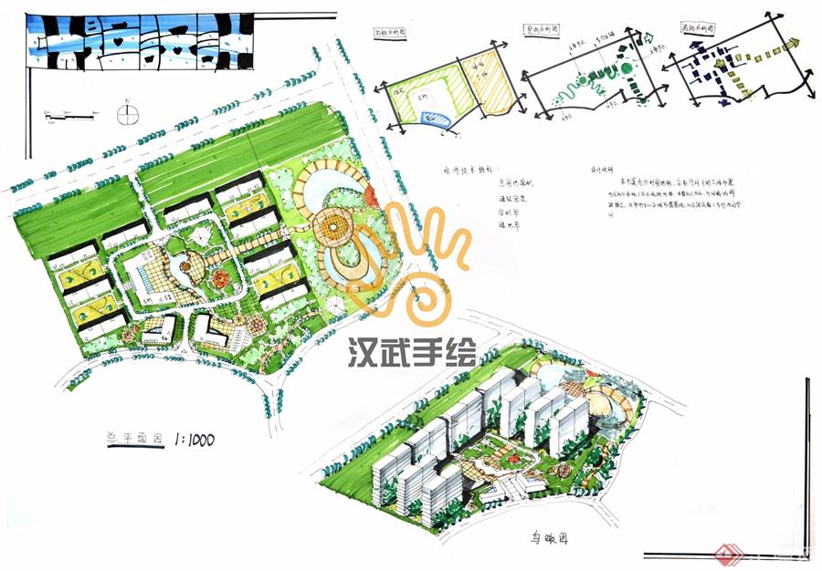 汉武手绘规划快题作品-武汉金汉武环境设计咨询有限