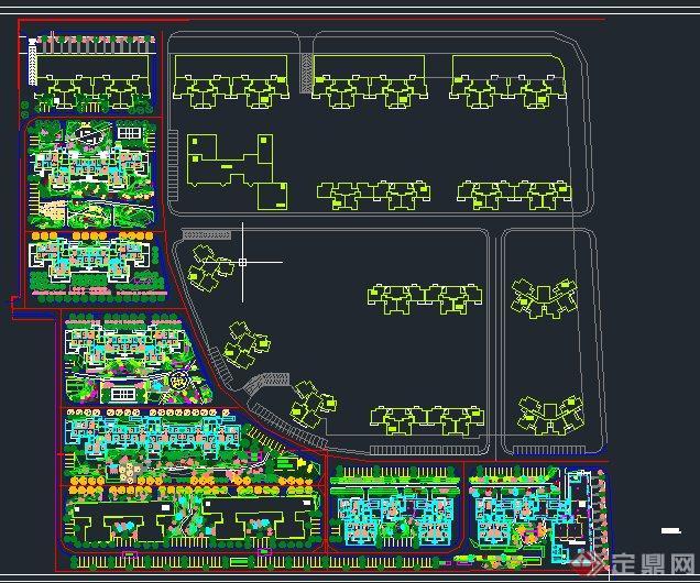太阳小区植物配置(乔木灌木地被)设计cad施工图[原创]