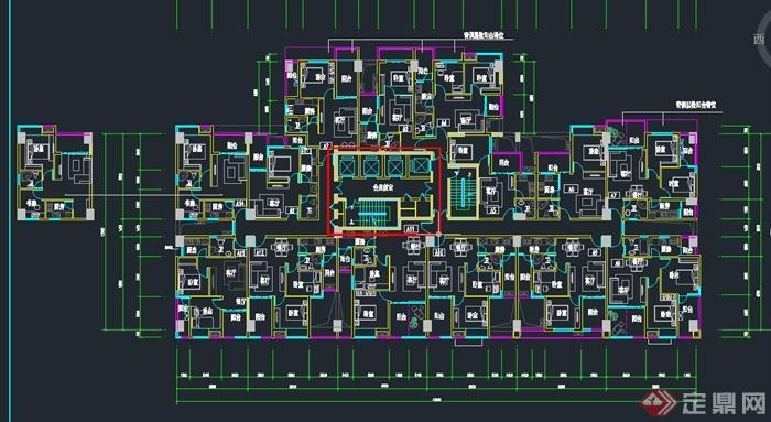 某小区独立式户型设计CAD平面图