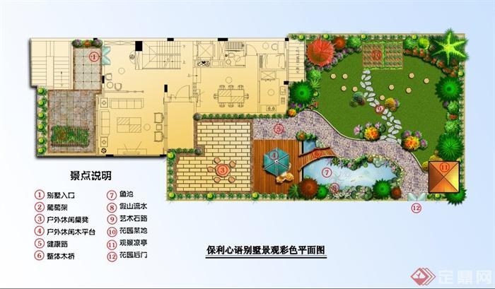 某别墅庭院景观设计彩色平面图[原创]