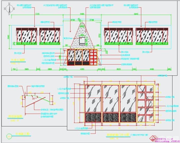 清新工业风纹绣美甲店装修设计3DMAX模型+JPG效果图+CAD施工图(7)