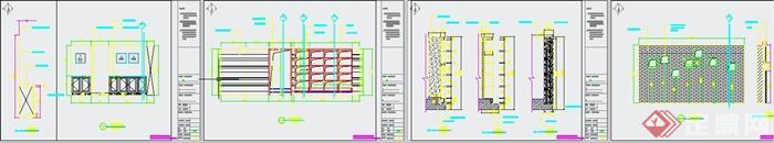 清新工业风纹绣美甲店装修设计3DMAX模型+JPG效果图+CAD施工图(10)