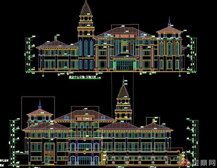 某欧式风格售楼中心建筑设计cad施工图[原创]