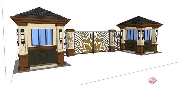 別墅入口 槽門設計