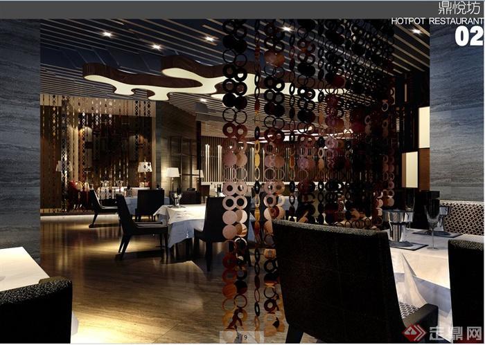 现代简约风格咖啡厅室内设计方案(带效果图)(3)