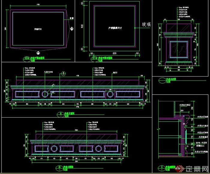 售楼处沙盘设计施工图(1)