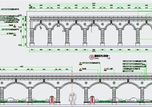 园林景观节点欧式弧形廊架设计CAD施工图