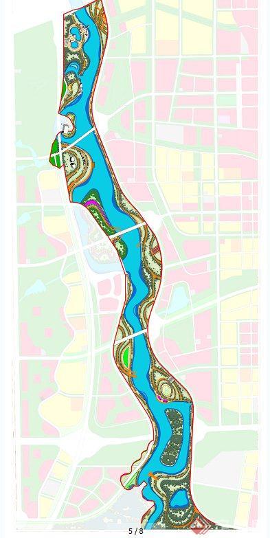 某大型河流景观设计psd和cad总平图[原创]